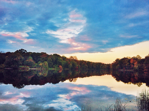 travel trees sunset sky cloud lake color fall nature water forest landscape photography md maryland greenbelt iphone iphonephotography snapseed iphone5s