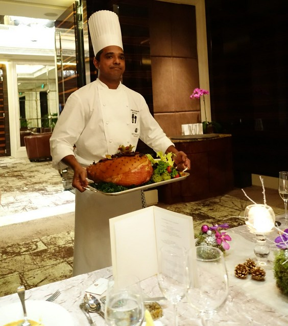 St Regis Singapore surprised us with a Pineapple Honey-glazed Gammon Ham - Christmas 2014