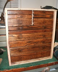 New Wood Tool Box, Machinist Chest, used drawers. I made a box for the excess Gerstner drawer  accumulation. The box is raw state ,or unfinished.  10-2014