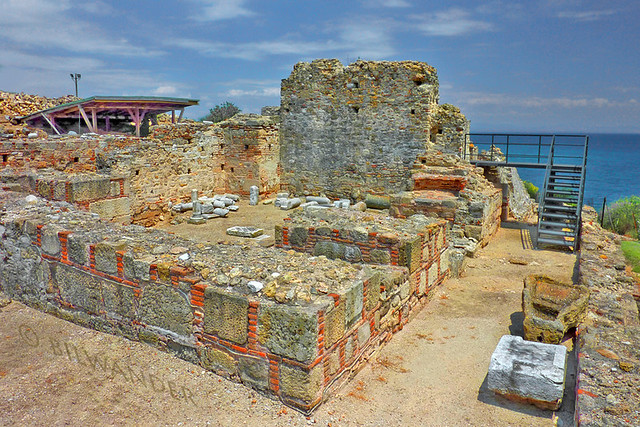 Macedonia, remnants of Ancient Pydna, Gulf of Thermaikos, Aegean Sea, Greece #Μacedonia