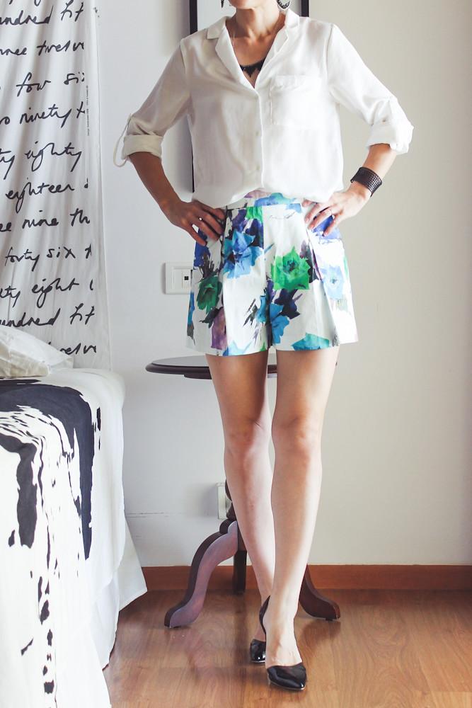 Zara Flower Print Shorts-2