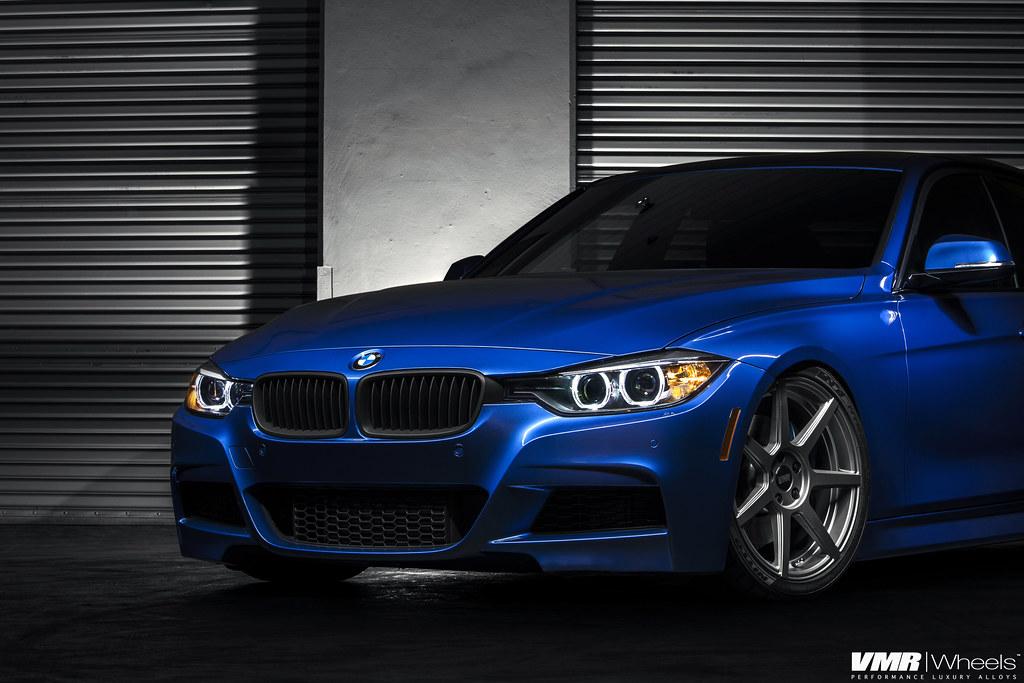 BMW F30 Estoril Blue   The *New* V706 Matte Gunmetal 19 ...