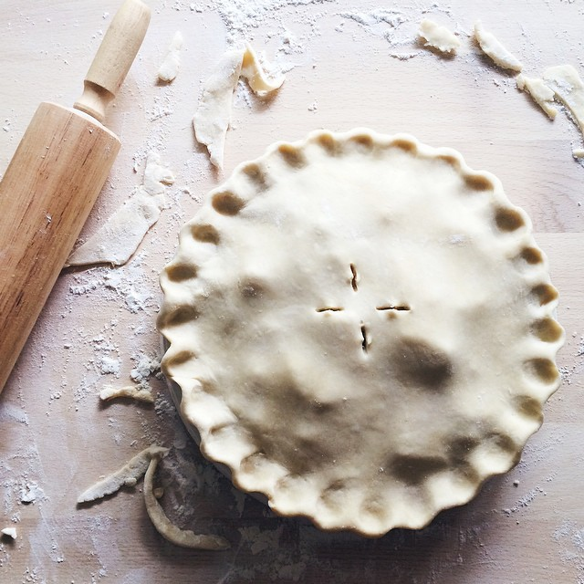 In my element. Thanksgiving pie recipes coming your way soon!