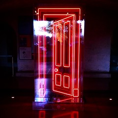 Let me take you to a different dimension. #neon #door #SomersetHouse