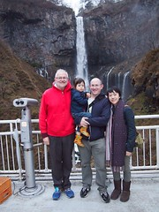 Evans family at Kegon falls