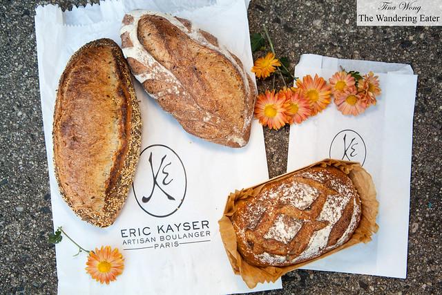 Quinoa bread, seeded bread and a seasonal Pumpernickel & Cider bread