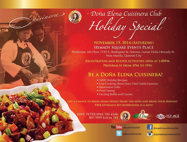 Happenings: Dona Elena Cusinera Club Holiday Special and more!