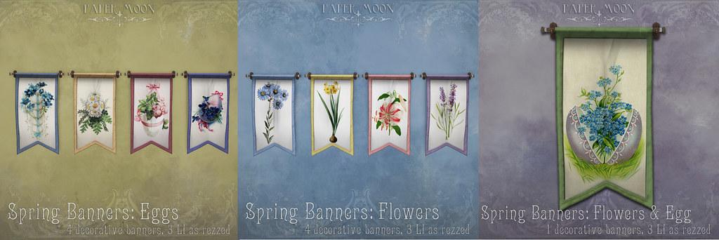 *pm Spring Banners - SecondLifeHub.com