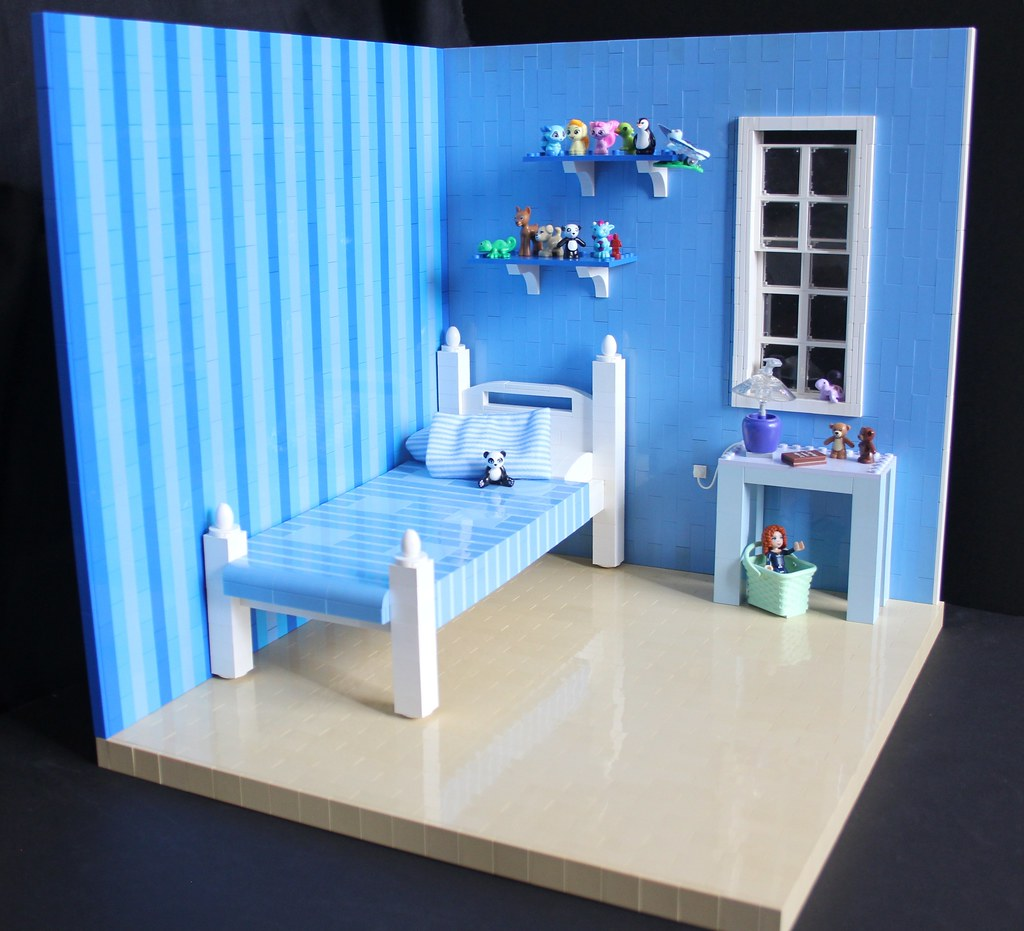 The Toy Collector's Bedroom (custom built Lego model)