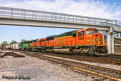 BNSF 8245 | EMD SD75M | BNSF Thayer South Subdivision