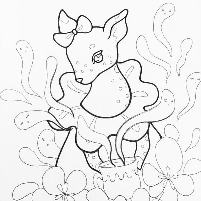Deerling 🌿 #linedrawing #lineart #artprocess #artstagram #art_we_inspire #deer #deerling #fawn #faun #ballpointpen #ballpointpenart #ballpointpendrawing #illust #igdraws #illustagram #illustration #illustrationart #illustrationartists #ghosts #creepy