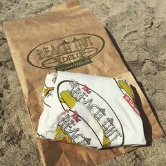 Eating the other half of my @beachhutdeli #sandwich on the #beach @cityofmonterey #beachday #beachdays #beaches #beachfun #california #californiaadventure #californiafun
