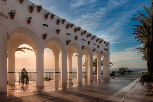 landscape sunrise nerja spain andalucia sky shadows loneliness senility seaside canon eos80d travel