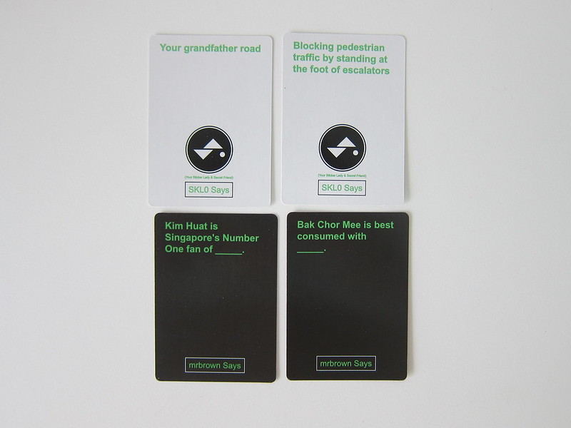 Limpeh Says - Kickstarter Special Expansion Pack - Cards Front