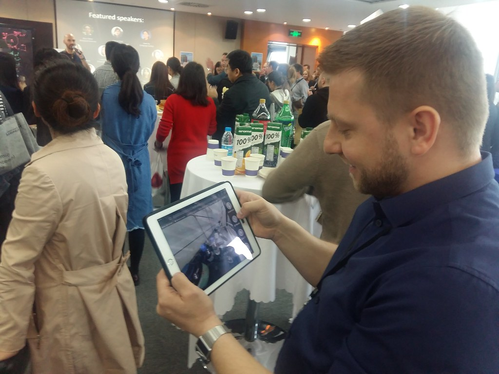 Demo of 360 video on iPad at XJTLU TEL showcase