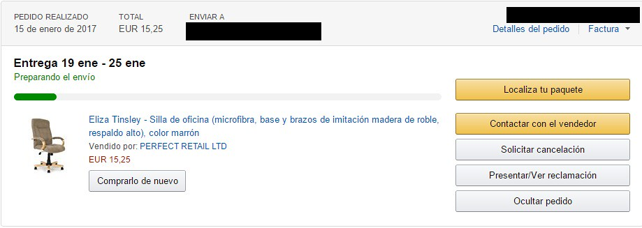 sillas a 15 euros en amazon