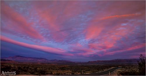 Sunset near Valley of Fire, Nevada, 1/2 (explored)