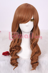 NEW Mar.55cm long Classic brown wave Anime cosplay wig ZY06-A