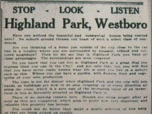 Stop, look and listen. It's Highland Park!