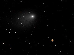 Comet Siding Spring Seen Next to Mars