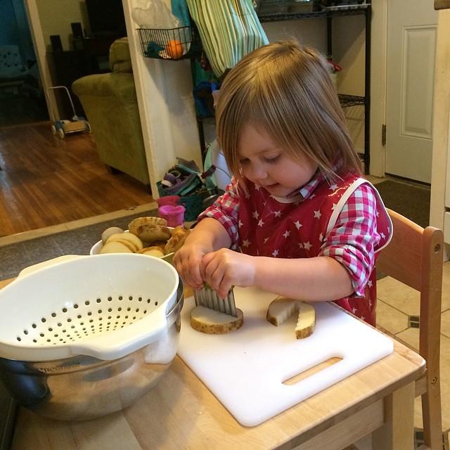 Potato chopping!