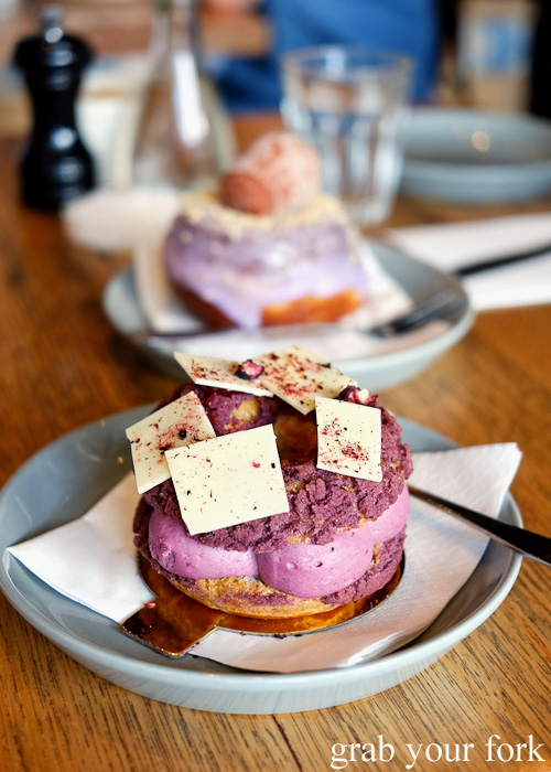 Blackcurrant Paris-Brest from Cobb Lane Bakery, Yarraville