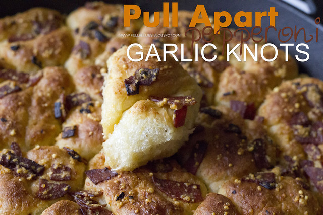 Pull Apart Pepperoni Garlic Knots