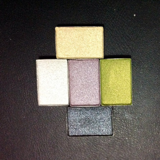 Sombras Mary Kay -Sparkling White, Glistening Gold, Shimerring Lilac, Brilliant Black , Jade