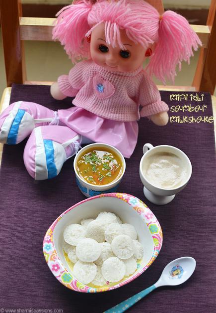 Mini Idli Sambar, Fig Milkshake