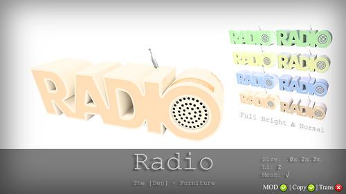 Radio - The [Den.' Furniture