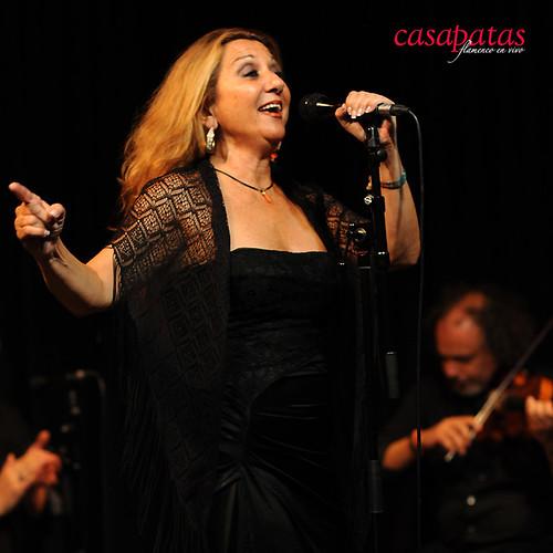 Marta Heredia cantando en nuestro tablao. Foto: Martín Guerrero