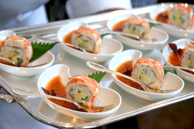 Tomato and Crabmeat Maki Roll with Bloody Mary Vinaigrette