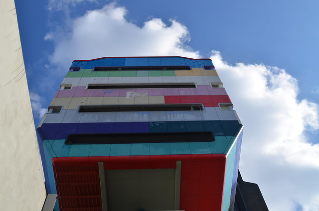 Berlin Steglitz Bierpinsel colourful back exterior