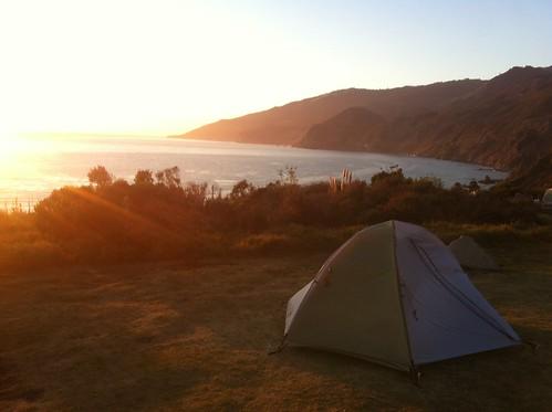 Camping at Kirk Creek Campground