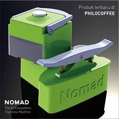 Sudah Tersedia NOMAD: The Go Everywhere Espresso Machine  Harga Rp 3.200.000  #Philocoffee  #myNomad