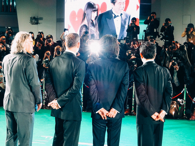 Photo:26th Tokyo International Film Festival: Paul Greengrass & Tom Hanks from Captain Phillips, Mitani Koki & Yakusho Koji from The Kiyosu Conference By Dick Thomas Johnson