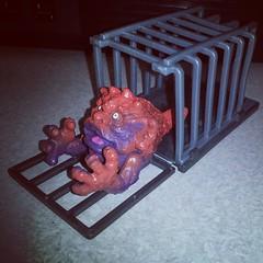 Super cool #80s Boglin with his cage #vintage #toyhunting #toyhustle #ragingnerdgasm #TomKhayos #ToyGameScroogeMcDuck