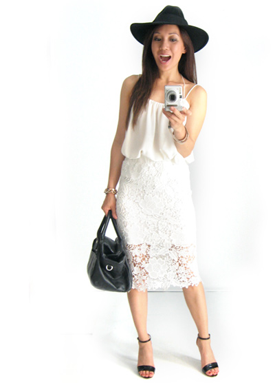 Lace Skirt. White on White.