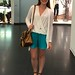 Turquoise shorts