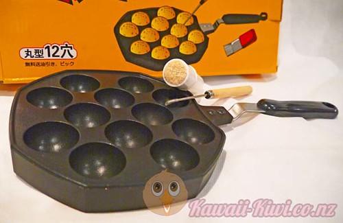Kawaii Kiwi - Making Takoyaki