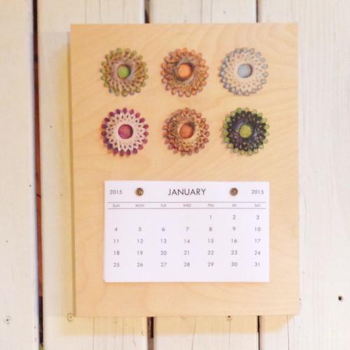 Sajour Linen Thread- 2015 Calendar