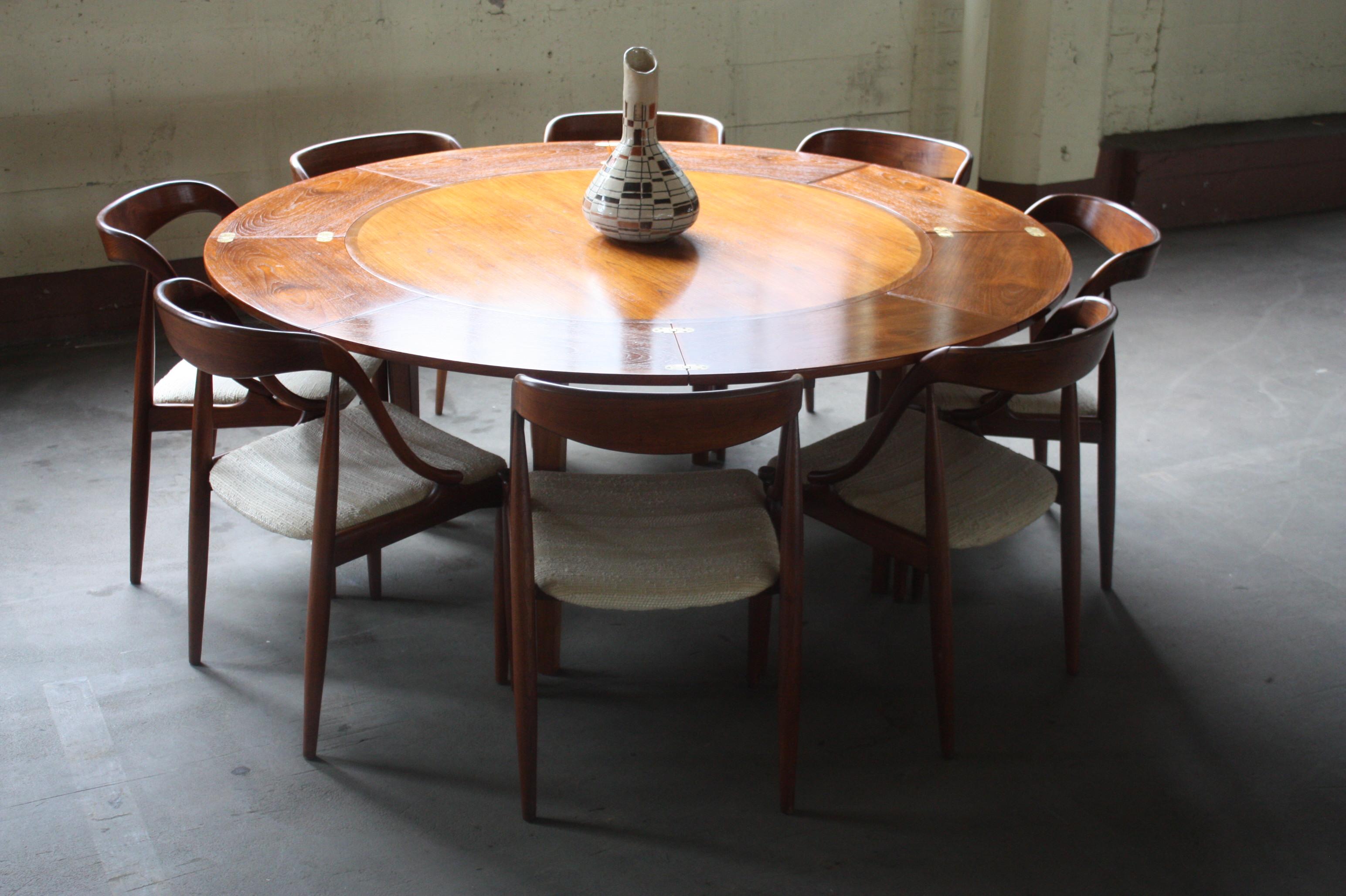 MID SIGLO MODERNOS DANESA COMEDOR TECA FLIP FLAP DYRLUND TABLA DE LOTO ()