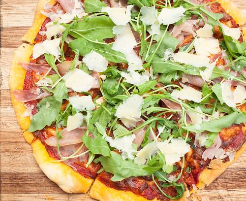 Prosciutto, Rocket & Parmesan Pizza