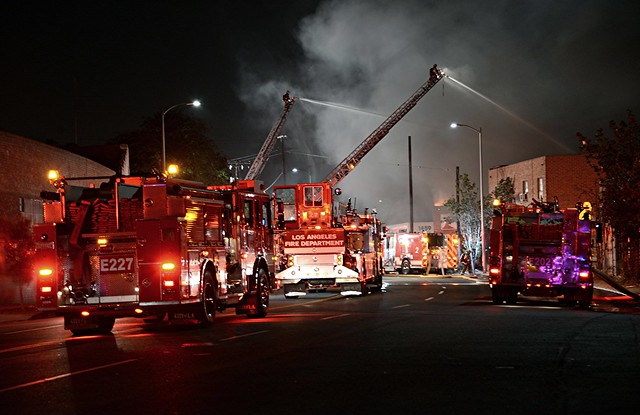 Fire Destroys Boyle Heights Metal Firm