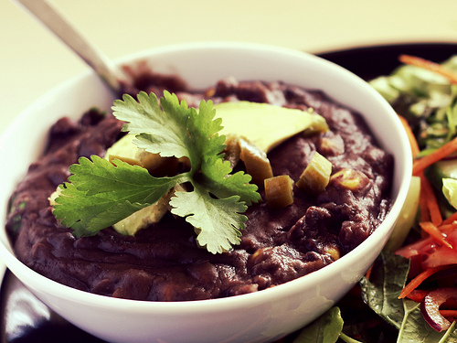 Frijoles Negros Refried Black Beans
