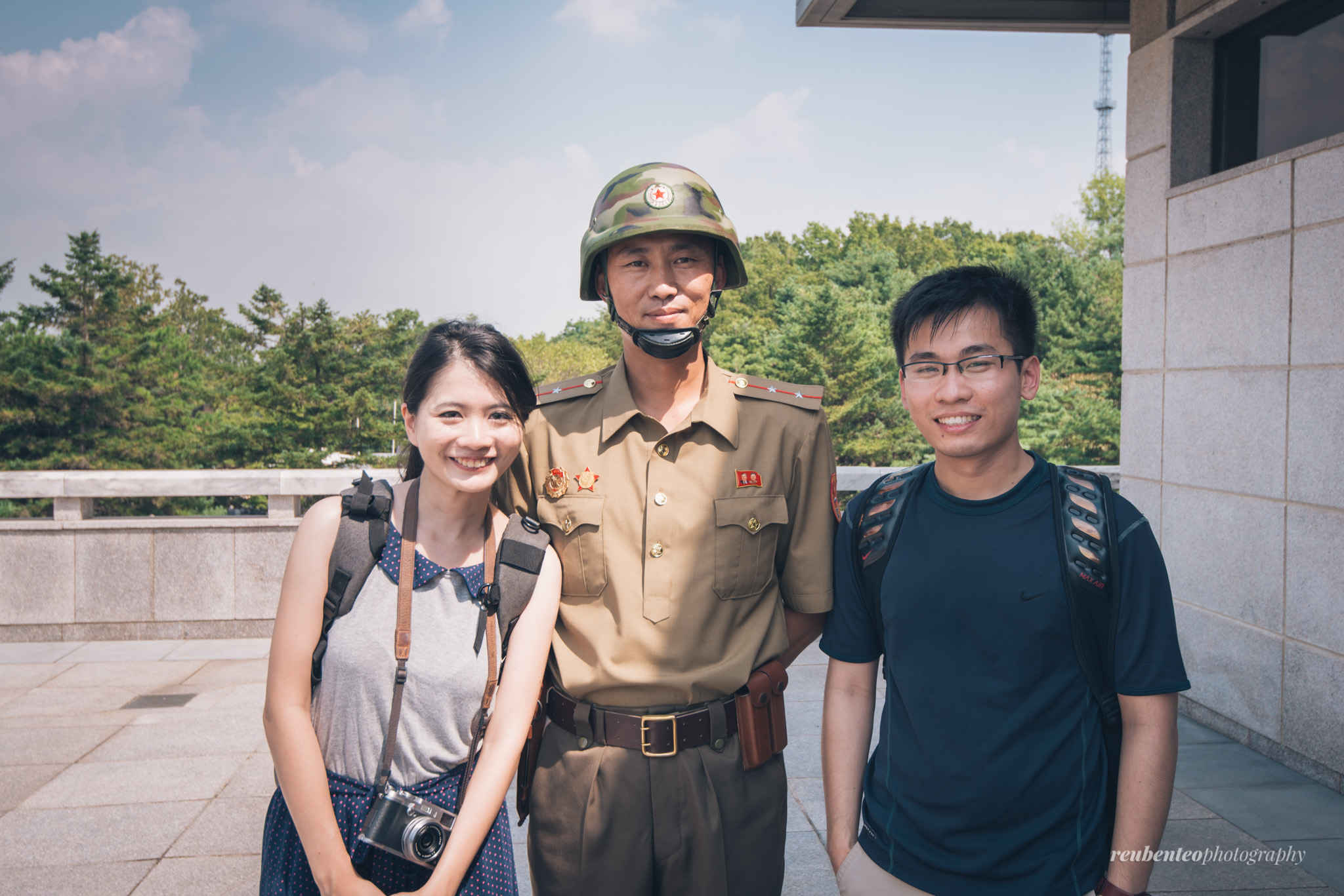 Us with North Korean Soldier