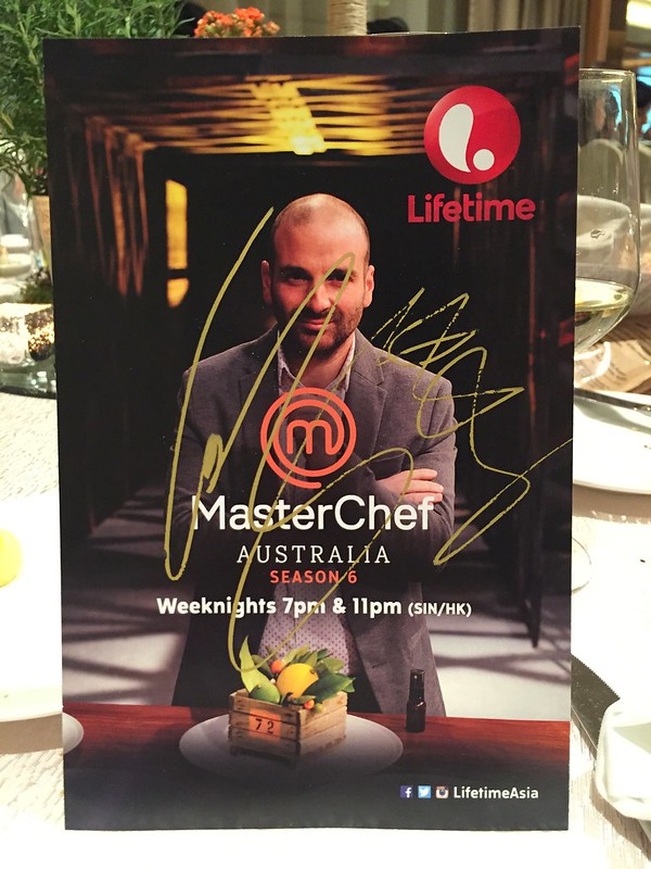 George Calombaris autographed this