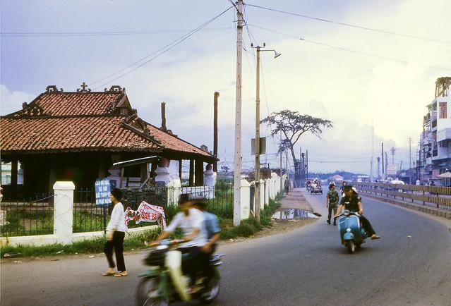 SAIGON 1970 - LĂNG CHA CẢ - An exterior view of the Pigneau de Béhaine mausoleum