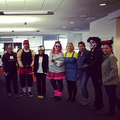 A fraction of the HR #halloween costumers. Can't wait to see the full group photo! #costume #siliconvalley