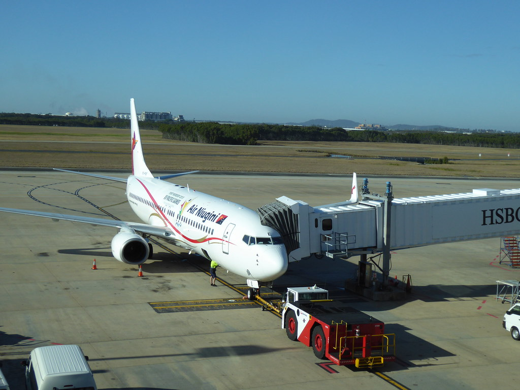 Air Niugini plane at Brisbane Airport